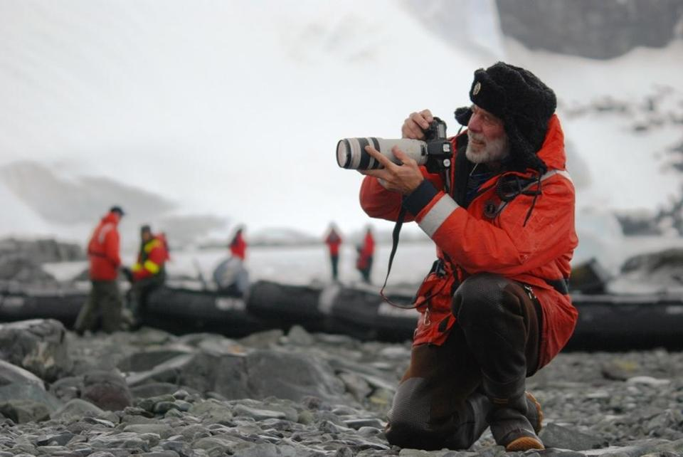 Larry Hobbs leads an Abercrombie & Kent photo expedition in Antarctica.